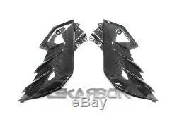 2013 2017 Kawasaki Z300 Z250 Carbon Fiber Side Fairing Panels 2x2 twill