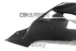 2013 2018 Kawasaki ZX6R Carbon Fiber Lower Side Fairings Rear 2x2 twill