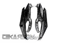 2014 2016 Kawasaki Z1000 Carbon Fiber Headlight Side Panels 2x2 Twill
