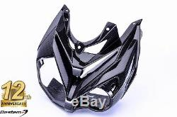 2014 2017 BMW S1000R 100% Carbon Fiber Front Nose Fairing Head Cowl, Twill