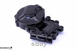 2014-2018 S1000R Carbon Fiber Clutch Left Engine Cover Crash Guard Twill 2017