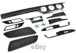 2015-2016 Mustang Carbon Fiber 10Piece Dah Kit Overlay 3 Twill