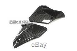 2015 2019 Kawasaki Ninja H2 Carbon Fiber Lower Side Panels 2x2 twill weaves