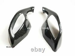 2015-2019 Yamaha R1 R1M R1S Carbon Fiber Mirrors Signal Cover Guards Twill Weave