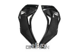 2016 2019 Kawasaki ZX10R Carbon Fiber Air Intake Covers 2x2 twill weaves
