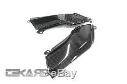 2017 2018 Kawasaki Z900 Carbon Fiber Side Tank Panels 2x2 twill weave