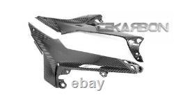 2017 2019 Kawasaki Ninja 650 Carbon Fiber Side Tank Panels 2x2 twill