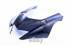 2017 2019 Yamaha R6 Carbon Fiber Front Fairing, Twill Weave Pattern