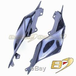 2017 2019 Yamaha R6 Carbon Fiber Tail Side Trim Cover Twill Weave Pattern