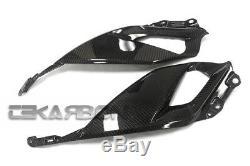 2018 Suzuki GSX-S750 Carbon Fiber Side Tank Panels 2x2 twill weave