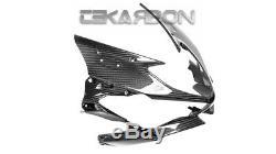 2019 2020 Kawasaki ZX6R Carbon Fiber Front Fairing 2x2 twill weaves