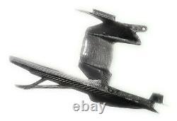 2020+ BMW S1000RR 100% Full Carbon Fiber Rear Hugger w Chain Guard Panels, Twill