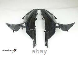 2020+ BMW S1000RR 100% Full Carbon Fiber Side Panels, Twill Weave Pattern
