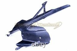 2020+ BMW S1000RR Carbon Fiber Rear Hugger with Chain Guard, Twill