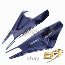 2020+ BMW S1000RR Carbon Fiber Swingarm Covers, Twill