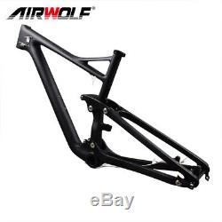 29er 3K twill full suspension carbon frame, Fit 2.4 tires carbon mountain frame
