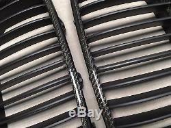 2X2 TWILL CARBON FIBER Front Hood Grilles Grille FOR 11-16 F10 F11 535i 550i