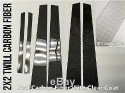 2x2 Twill carbon fiber pillar panels covers for 00-07 Lancer Evolution 7 8 9
