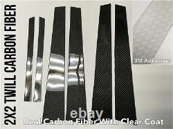2x2 twill carbon fiber pillar panels trim covers for 13-18 Benz GLA-class
