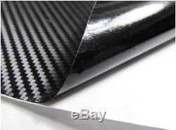 3D Twill-Weave CARBON FIBER VINYL 12x60 Roll BLACK Wrap Sheet Bubble Free
