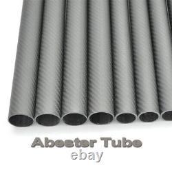 3K Carbon Fiber Tube 60mm OD x 56mm ID x 1000mm Matt Twill Roll Wrapped 60x56