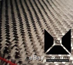 5 yards! Carbon Fiber Fabric / Cloth 2x2 Twill Weave 5.7 oz, 50 wide