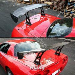57'' Adjustable GT Rear Trunk Twill Carbon Fiber Color & ABS Wing Spoiler Racing