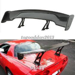 57'' Universal Carbon Fiber Color GT Adjustable Car Rear Racing Spoiler Wing