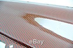 5th GEN Camaro Carbon Fiber Door Panels 100% 3K Twill Crimson Carbon