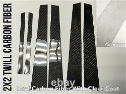 6P Twill real carbon fiber pillar panel trim cover For 03-06 V35 G35 350GT Sedan