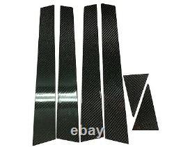 6PCS 2X2 TWILL REAL CARBON FIBER PILLAR PANELS FOR 08-14 WRX Sti