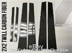 6pc 2x2 Twill Carbon Fiber Pillar Panels Covers For 98-05 IS200 IS300 ALTEZZA