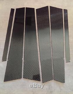 6pc 2x2 Twill Real Carbon Fiber Pillar Panels For W164 06-11 Ml350 Ml63 Ml550