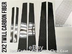 6pc 2x2 Twill real carbon fiber pillar panels trim covers for 06-17 LS460 LS600h