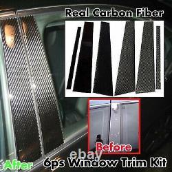 6pcs TWILL REAL CARBON FIBER PILLAR PANELS FOR 13-20 GS450H GS350 GSF URL10
