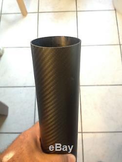 70MM ODx 67MM ID CARBON FIBER TUBE 8 LONG TWILL WAVE MATTE FINISH