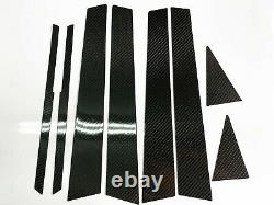 8pcs 2x2 Twill Real Carbon Fiber Pillar Panels For 08-14 Impreza Sedan