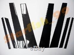 8x 3d Gloss Real Twill Carbon Fiber B-pillar Post Cover For 08-11 Bmw X6 E71 //m