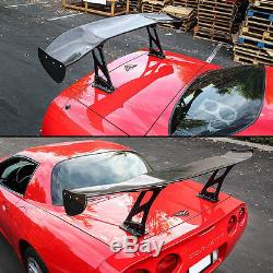 Adjustable 57'' 3D GT Rear Trunk Twill Carbon Fiber Color Spoiler Racing Wing