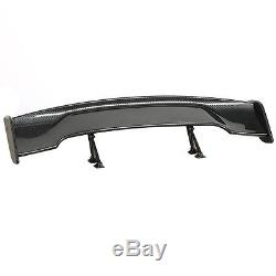 Adjustable 57'' GT Twill Carbon Fiber Color Rear Roof Wing Spoiler Single Deck