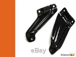 Aprilia Rsvr Carbon Fiber Rear Exhaust Hangers 2004-2009 Twill Gloss Weave Mille