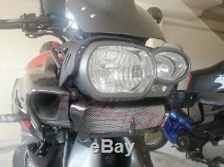 BMW K1300R TWILL Carbon Fiber Oil cooler cover with Mounting Brackets