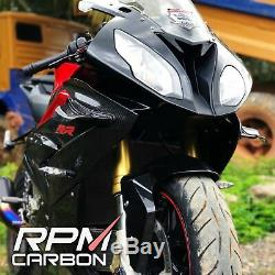 BMW S1000RR Carbon Fiber Winglets V4R Style Glossy Twill RPM Carbon