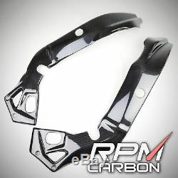 BMW S1000RR S1000R Carbon Fiber Frame Covers Protectors Glossy Twill