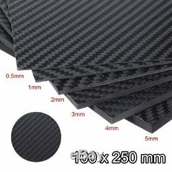 Black Matte Carbon Fiber Plate Panel Sheet Board Mat Vehicle Accessory 0.5-5mm