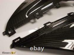 Bmw S1000rr 2019 Carbon Upper Fairing Infill Panels In Twill Gloss Weave Fiber