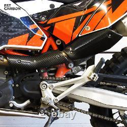 Bouclier thermique Twill KTM 690 SMC/Enduro/Duke en fibre de carbone 2x2twill 3k