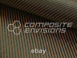 Bronze Mirage Carbon Fiber Cloth Fabric 2x2 Twill 50 3k 290gsm 8.6oz HD