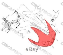 Buell Firebolt XB9R / XB12R Carbon Fiber Front Fairing 2x2 twill weaves