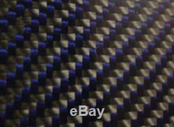 Carbon Fiber Blue Kevlar Panel Sheet. 012/. 3mm 2x2 twill EPOXY-24 x 48